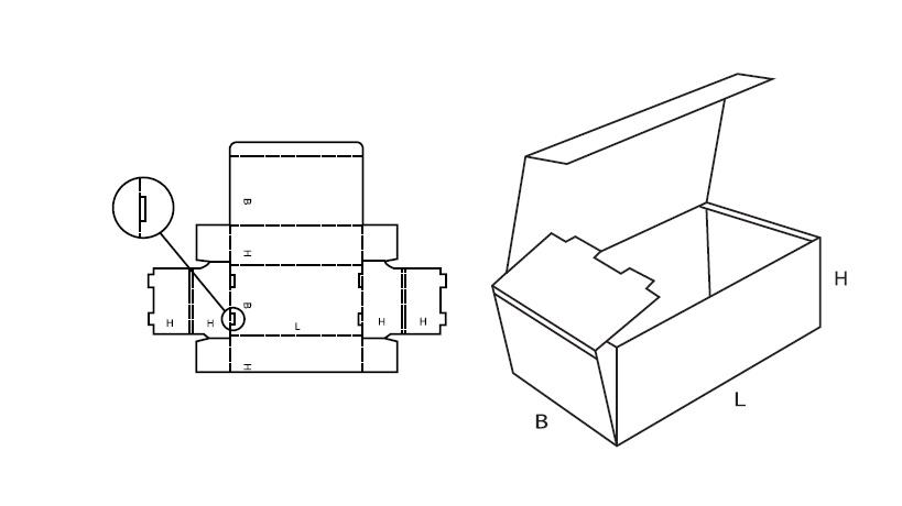 scatola fustellata